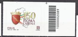 Italia / Italien 2021 Roma Capitale / Rom Als Hauptstadt Con Codice A Barre / Mit Strichkode - Bar Codes