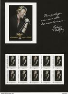Collector Johnny Hallyday Tour 66 - 10 TVP  Timbres Adhésif ** 2009 - Collectors
