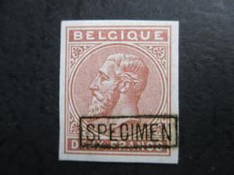 Uitgifte 1883 - Leopold II - 2 F Niet Uitgegeven Met Specimen MH* - 1869-1883 Leopold II