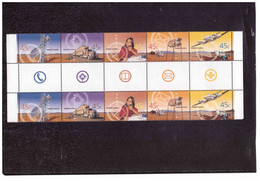 """BF192  -  AUSTRALIA /   CAT. MICHEL 2049/2053 ( Y&T. 1949/1953 ) NUOVO **MNH  """"   GUTTER PAIR """" - Used Stamps"""