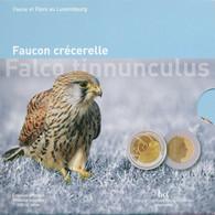 """Luxembourg 2009 : 5€ En Argent Et Or Nordique """"Faucon Crécerelle"""" (Turmfalke) - Disponible En France - Luxemburgo"""