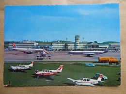 AEROPORT / AIRPORT / FLUGHAFEN    ZURICH KLOTEN  DC 8  SWISSAIR / COMET OLYMPIC AIRWAYS - Aerodromi