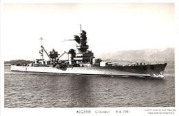 Bateau - Marius Bar Toulon - Croiseur Algérie (1941) - Krieg