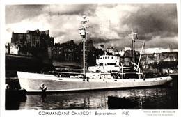 Bateau - Marius Bar Toulon - Explorateur Commandant Charcot (1950) - Sonstige
