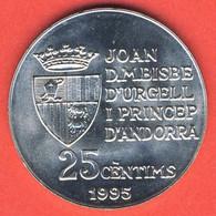 Andorra 25 Centims 1995, 50th Anniversary - FAO, KM#109, Unc - Andorra