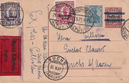 ALLEMAGNE 1921 ENTIER POSTAL/GANZSACHE/POSTAL STATIONARY CARTE EXPRES DE DRESDEN - Ganzsachen