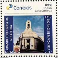 PB 67 Brazil Personalized Stamp Masonic Grand Lodge External Masonry Gummed 2017 - Gepersonaliseerde Postzegels