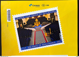 PB 68 Brazil Personalized Stamp Masonic Grand Lodge Internal Masonry Gummed 2017 Vignette - Gepersonaliseerde Postzegels