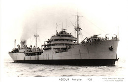 Bateau - Marius Bar Toulon - Pétrolier Adour (1938) - Tanker