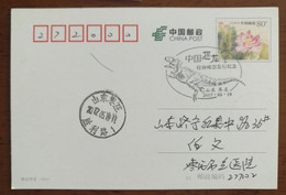 China 2017 Zaozhuang Post China Dinosaur Stamps Issue 1st Day Commemorative PMK Used On Card,delivery Day 2017-05-23 - Fossiles