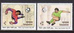 Bangladesh 1990 Football World Cup Set Of 2, MNH, SG 350/1 (F) - Bangladesh