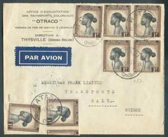 N°257(8 (1ex. Plié Au Verso) Obl. MATADI Sur Lettre Par Avion Du 24/2/1947 Vers Bâle (CH). TB - 17562 - 1947-60: Lettres