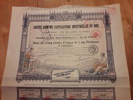 SA D'Applications Industrielles Du Bois - 1918 - Aviazione