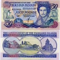 FALKLAND IS.       50 Pounds       P-16a       1.7.1990       UNC - Falkland Islands