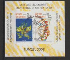 Europa 2006 Turquie Chypre BF 24 Non Dentelé Oblit. Used Imperforated - 2006