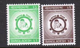 Bangladesh 1990 Immunisation Set Of 2, MNH, SG 368/9 (F) - Bangladesh