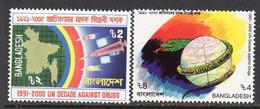 Bangladesh 1991 UN Anti-Drugs Decade Set Of 2, MNH, SG 374/5 (F) - Bangladesh