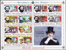 San Marino 2001 Giuseppe Verdi Michel Nr. 1938 - 1949 - Unused Stamps