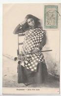 Anjouan  /  Jeune Femme  Et Timbre De Madagascar , 1913 - Other
