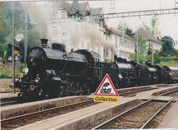 Train Spécial Vapeur à Travers (Suisse)  - - Bahnhöfe Mit Zügen
