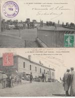 2 CPA 84 LE MONT-VENTOUX COURSES AUTOMOBILES   AVANT LA COURSE +TERRASSE DE L'OBSERVATOIRE 1904 - Zonder Classificatie