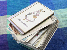 180 Oude Postkaarten  Vrolijk Paasfeest  Joyeuses Pâques (meeste Geschreven En Gezegeld ; Port België 6€ ) - 100 - 499 Postales