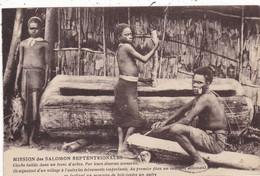 OCEANIE. MISSION DES SALOMON SEPTENTRIONALES. CLOCHE TAILLEE DANS UN TRONC D'ARBRE. ANNEE 1939 + TEXTE - Solomon Islands