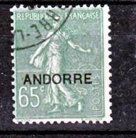 Andorre  16 Oblitéré Semeuse Used TB  Cote 25 - Oblitérés