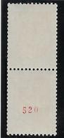 France N°1468b - N° Rouge - Neuf ** Sans Charnière - TB - Unused Stamps