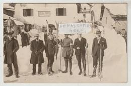 """Hautes Alpes MONTGENEVRE Carte-photo Concours International De Ski Du 24 Février 1925 """"Les Officiels"""" - Autres Communes"""