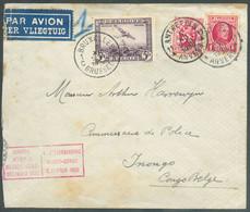 Enveloppe Par Avion ANTWERPEN 1 Du 5-XII-1930 Vers Inongo (Congo Belge) + Griffe LIAISON AERIENNE BELGIQUE-CONGO DECEMBR - Luchtpost