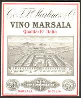 """ITALIA Sicilia Marsala ~1952 Deco Etikett """" Martinez & Co Fattoria Di Vini Vino Marsala """" Reklame Werbung A6 - Pubblicitari"""