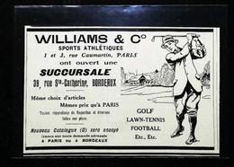 ► Publicité WILLIAMS & C° - Articles De Golf  1912  - Coupure De Presse Ancienne - Apparel, Souvenirs & Other