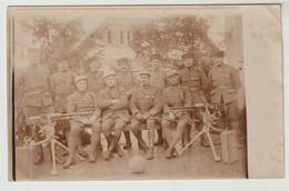 Militaria Groupe De Soldats Nommés (quatrecoup, Cathala, Di Napoli;..) à ALTENHEIM 1919 (mitrailleuses) - Reggimenti