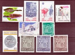 Andorre Espagnol 1988 Année Complète 189 à 198  Neuf ** MNH Sin Charmela Cote 19.5 - Neufs