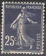 France Maury 140 IA E (Yvert ) ** Semeuse Camée 25c Bleu-noir - Curiosities: 1900-20 Mint/hinged
