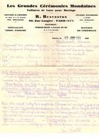 Location De Voitures De Luxe Pour Cérémonies Mondaines.Rue Laugier Paris 17è. Panhard, Voisin  1931 - Publicités