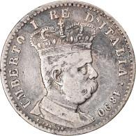 Monnaie, Eritrea, Umberto I, Lira, 1890, Rome, TB+, Argent, KM:2 - Eritrea