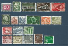SUISSE 1 Lot De 19 Timbres Oblérés De 1945 à 1952  (S17) - Colecciones (sin álbumes)