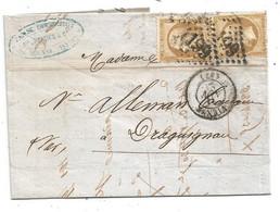 - ISERE - VIENNE GC 4199 /tp NAPOLEON III N°21x2 + Càd Type 15 - 1865 - 1862 Napoléon III