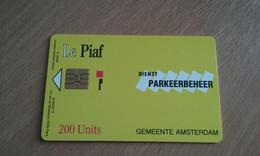 CARTE A PUCE PIAF AMSTERDAM 200 UNITES DOS BLANC T.B.E !!! - Tarjetas De Estacionamiento (PIAF)