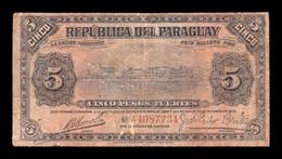 Paraguay 5 Pesos Fuertes L.1920 (1923) Pick 149a Sign 2 RC G - Paraguay