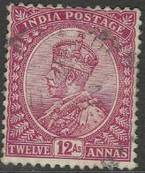 India. 1911-22 KGV. 12a Used. Single Star W/M SG 183 - 1911-35  George V