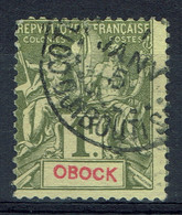"Obock, 1f., Type ""Groupe"", 1892, Obl, TB Un Fort Joli Timbre - Oblitérés"