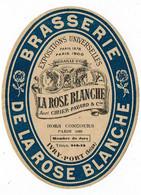 Ancienne étiquette Brasserie La Rose Blanche à St Germain En Laye 78 - Bier