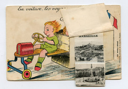 Carte Postale  à Système Avec 10 Vues De MARSEILLE . Caisse à Savon - Cartoline Con Meccanismi