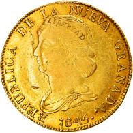 Monnaie, Colombie, 16 Pesos, Diez I Seis, 1845, Popayan, TB+, Or, KM:94.2 - Colombia
