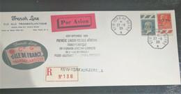 France - 1928 - Superbe Enveloppe Moderne Avec Reproduction PA 3 Et 4 - Faux - 1927-1959 Matasellados