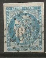Timbre  France Oblitéré émission Bordeaux  N 46b - 1870 Emission De Bordeaux