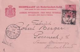 INDE NEERLANDAISE 1895  ENTIER POSTAL/GANZSACHE/POSTAL STATIONARY CARTE DE PONTIANAK - India Holandeses